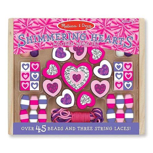 Shimmering Hearts Bead Set