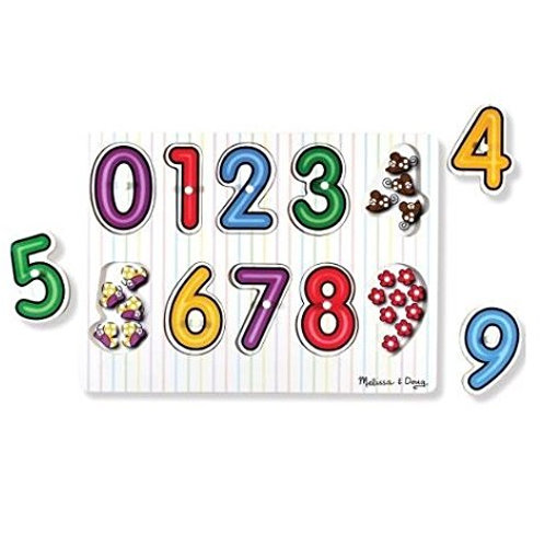 Wooden Peg Puzzle Numbers