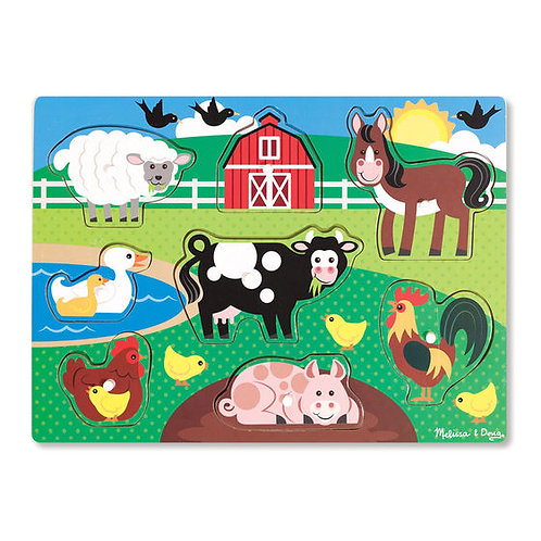 Wooden Farm Peg Puzzle