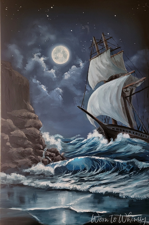"""Original """"Cape Disappointment"""" Painting"""