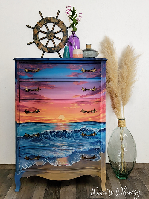 Evening Skies On The Ocean Dresser