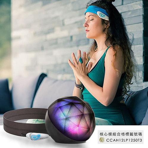 【智能腦瑜珈-般若感知燈】含一台瑜珈版BrainLink腦波儀 語音辨識 聲控系統 專注 放鬆 禪定 瑜珈 身心靈調和 Macrotellect