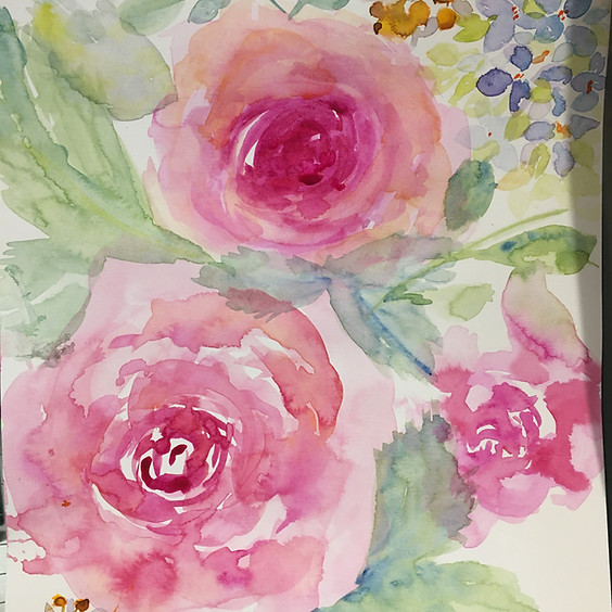 Let's Paint Watercolour Roses!