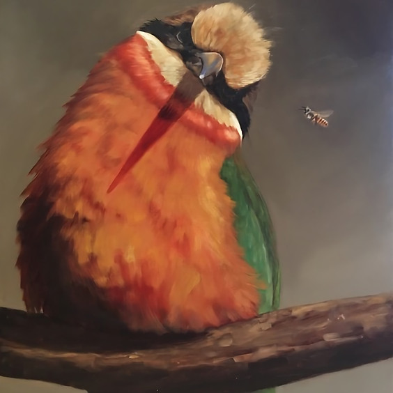 Let's Paint A Bird Portrait Art Class
