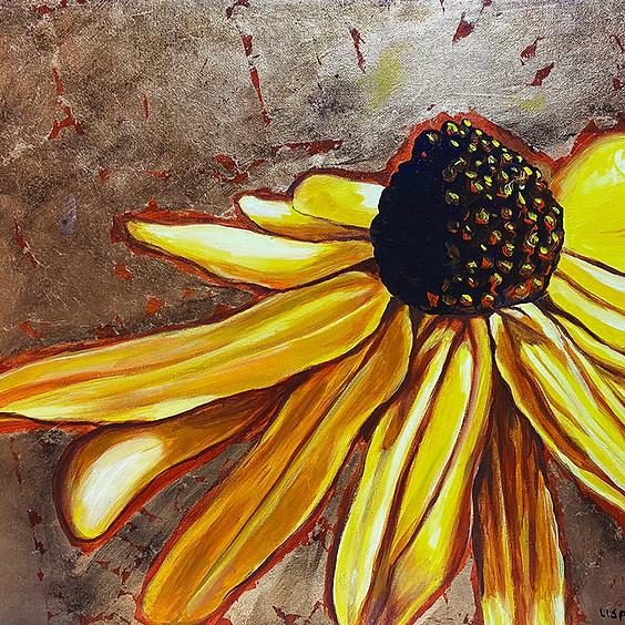 Paint a Black Eyed Susan Flower Art Class