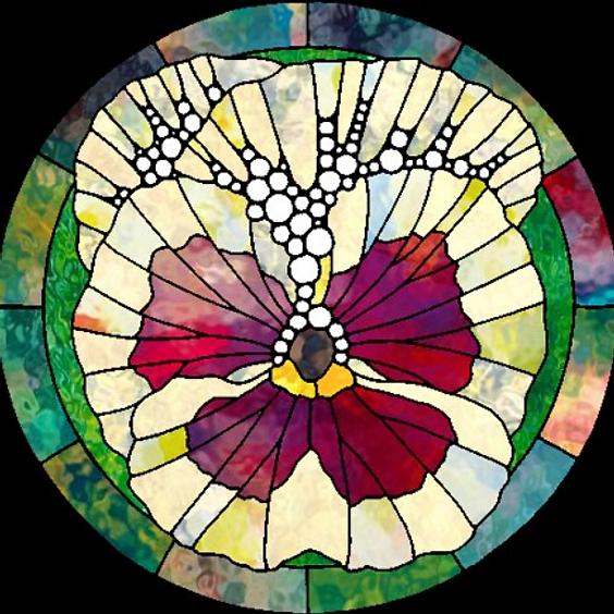 Art Nouveau Legacy: Faux Stained Glass
