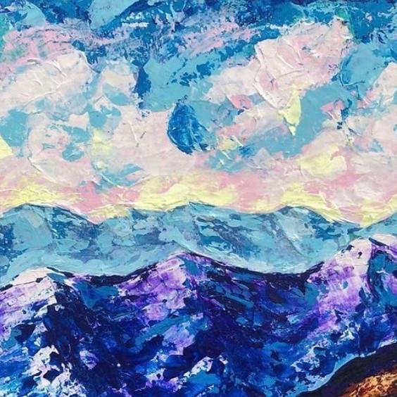 Sunset Palette Knife Painting Art Class