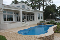 Fiberglass pool and spa combo