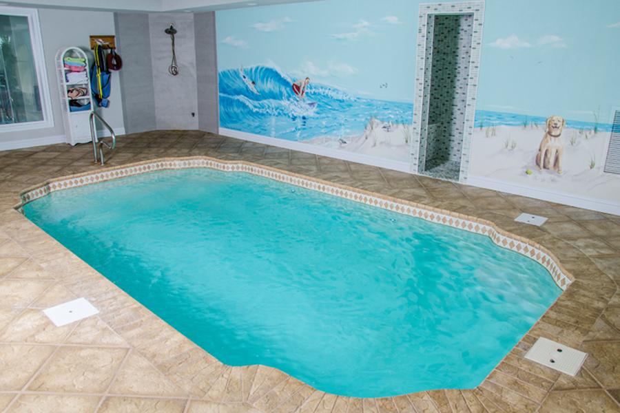 Sun fiberglass pool