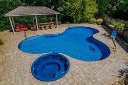 Freeform liner pool 17 Lagoon