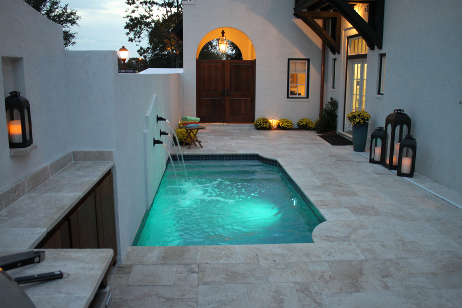 patio liner pool