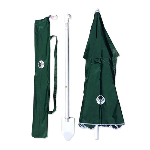 Hunter Green dig-git Beach Umbrella and Anchor