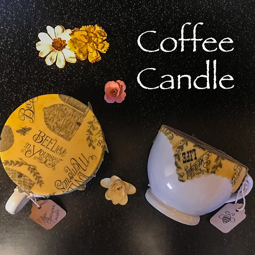 Coffee Scented Beeswax Candle