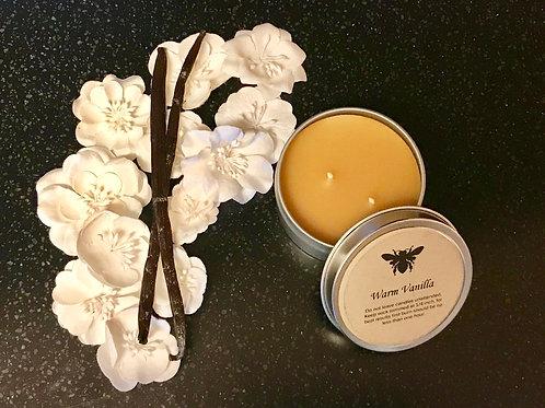Warm Vanilla Beeswax Candle