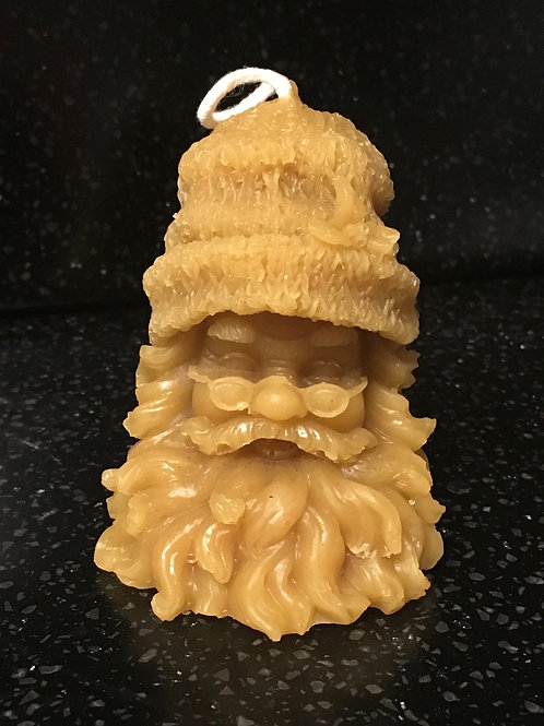 Tiny Santa Head Candle