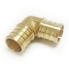 90 degree Pex Elbow, Brass, 1""