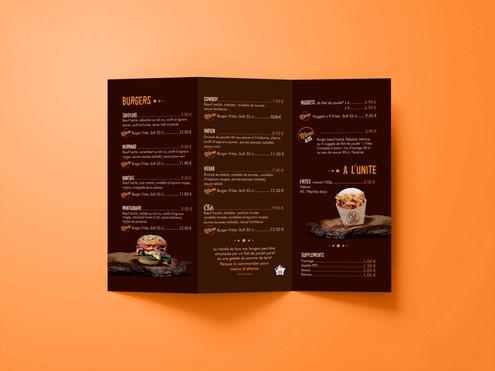 Dépliant - La Cabane à Burger