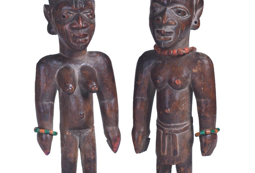 PAIR OF IBEJI MALE & FEMALE OTTA