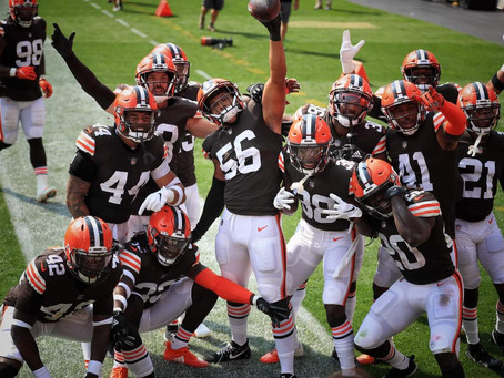 The Cleveland Browns move to 2-1