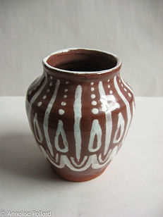 Engob and Glazed Vase