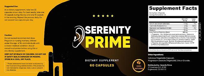 Serenity Prime Label