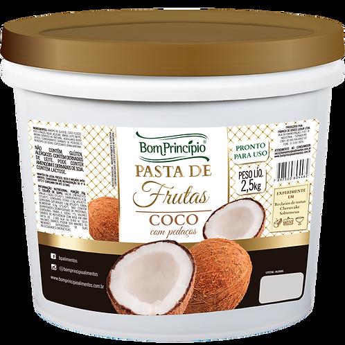Pasta de Frutas Sabor Coco - 2,5Kg - Bom Princípio
