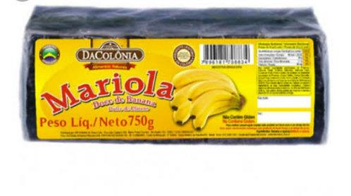 Mariola Doce de Banana -750g- Da colônia