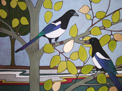 Magpies By the Cam