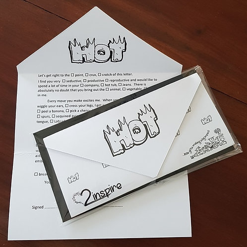 "2inspire ""Tick a Box"" Humerous Card - Lover"