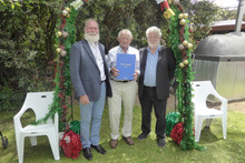 Peter Hyett receives Royce Abbey award.J