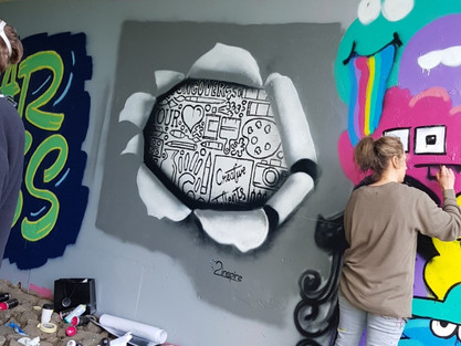 Paint Jam…. Where Street Art and Graffiti Collide