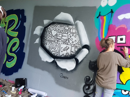 Paint Jam…. Where Street Art and Graffiti Collide