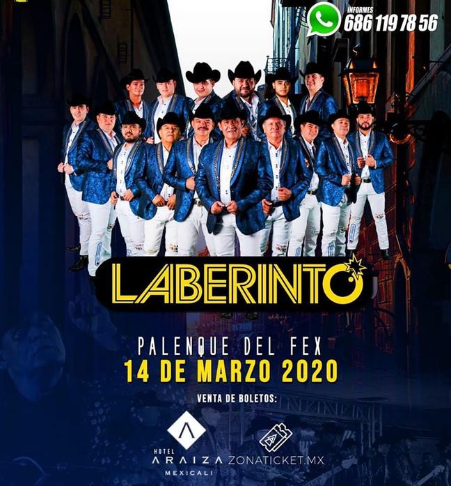 ⏩ LABERINTO 🔴 14 DE MARZO 2020 🔴 PALENQUE DEL FEX 🔴 MEXICALI 💯  #zonaticketmx