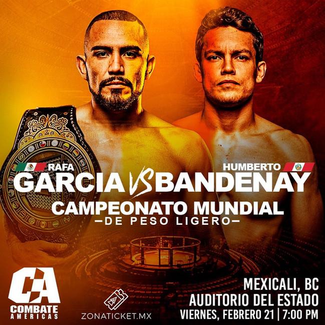 ⏩ RAFAEL GARCÍA VS HUMBERTO BANDENAY 🔴 TÍTULO MUNDIAL DE PESOS LIGEROS 🔴21 DE FEBRERO 2020  🔴 AUD