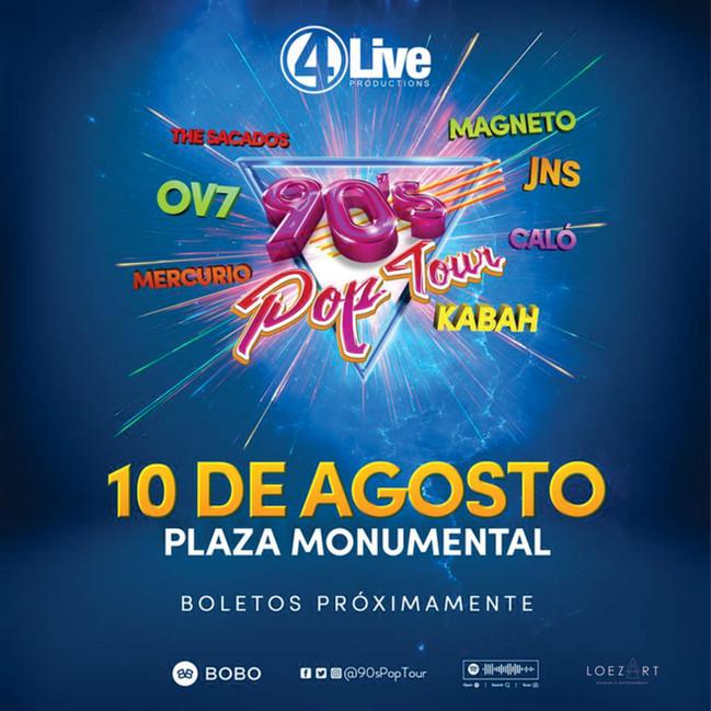 ⏩ 90 POP TOUR 🔴 MONUMENTAL PLAZA DE TOROS 🔴 TIJUANA  🔴 10 DE AGOSTO 💯  #bookingloezart