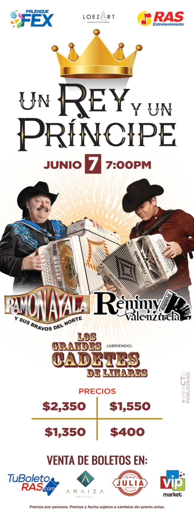 ⏩ UN REY Y UN PRINCIPE | RAMÓN AYALA & REMMY VALENZUELA 🔴 PALENQUE FEX 🔴 MEXICALI  🔴 7 DE JUN