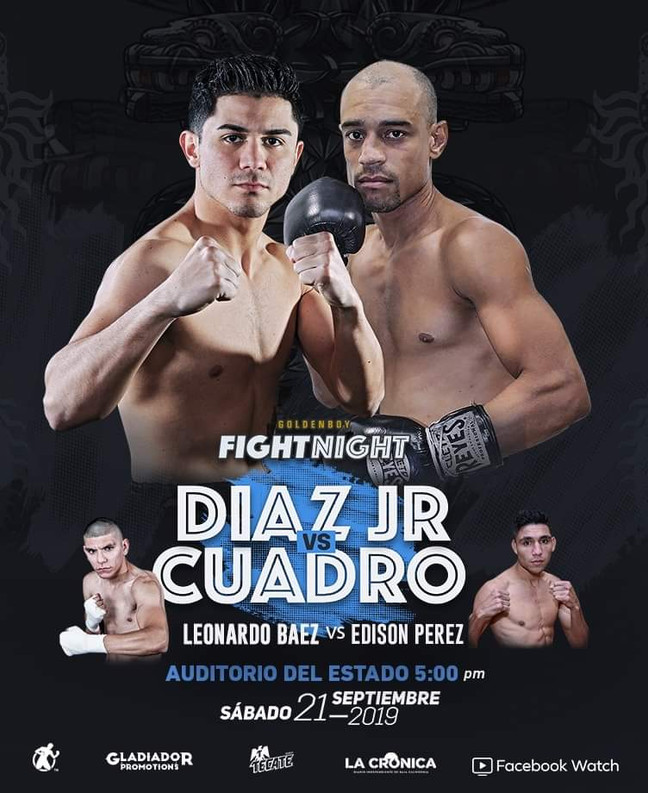 ⏩ GOLDEN BOY FIGHT NIGHT BOX 🔴 DIAZ JR. VS CUADRO 🔴 AUDITORIO DEL ESTADO 🔴 21 SEPTIEMBRE 💯  #zon