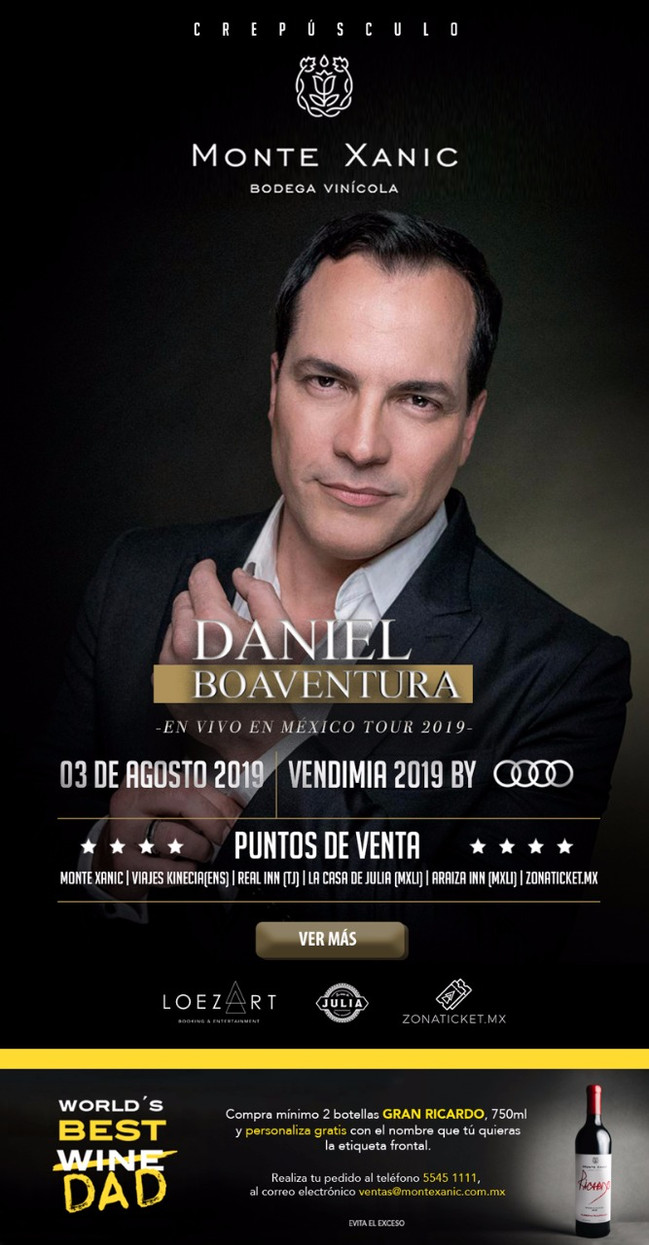 ⏩ DANIEL BOAVENTURA🔴 MONTE XANIC 🔴 3 de AGOSTO 2019 💯 #bookingloezart #hostessloezart #EventosL