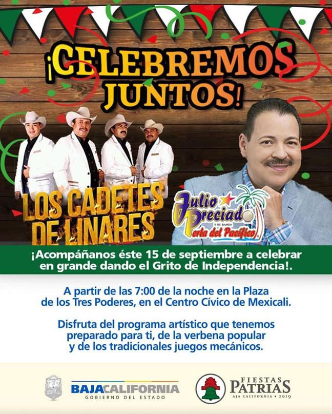 """⏩ JULIO PRECIADO + CADETES DE LINARES DE """"CHUY BRISEÑO""""🔴 CENTRO CÍVICO 🔴 MEXICALI 🔴 15"""