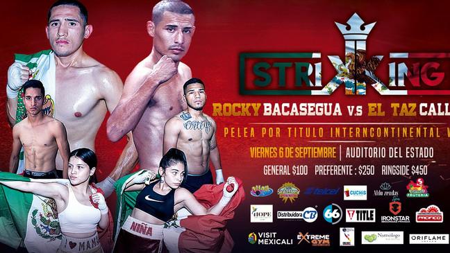 """⏩ STRIKING BOX 🔴 """"ROCKY"""" BACASEGUA VS """"EL TAZ"""" CALLEROS🔴 6 DE SEPTIEMBRE 🔴 AU"""