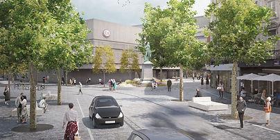 Nouvelle place du Martyr, phase F de Ville Conviviale Verviers