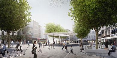 Nouvelle place Verte du projet Ville Conviviale