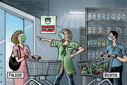 Masekenpflicht in Ladenlokalen