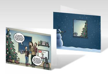 Weihnachtskarte doppelseitig