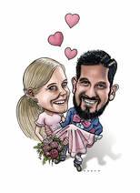 Hochzeits-Karikatur