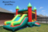 bounce house with slide bouncy house inflatable