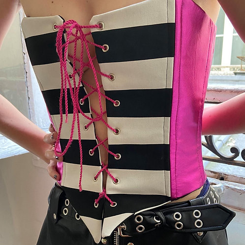 PINK LEATHER CORSET