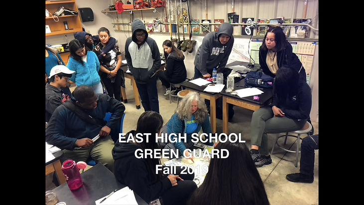 East High School Green Guard, Fall 2019