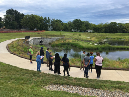 What is an engineered wetland and where can you see one in Kansas City?