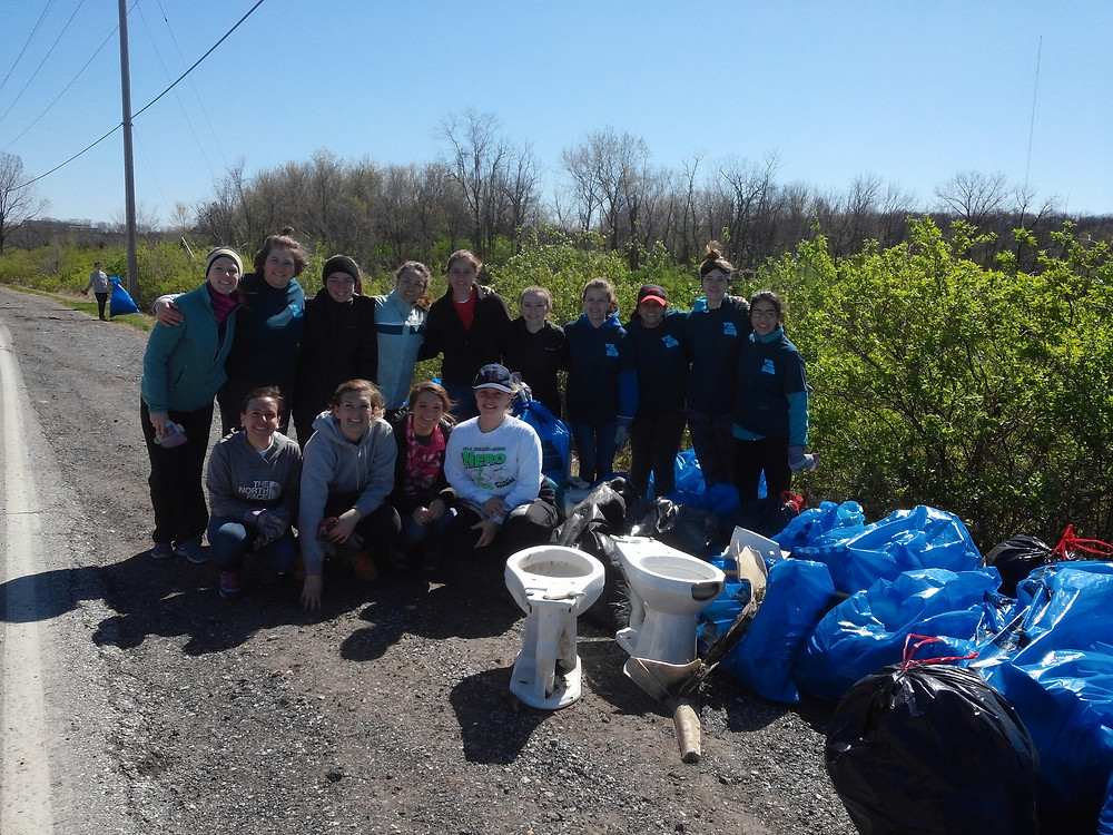 At the 26th Annual Project Blue River Rescue, volunteers collected trash along the Blue River